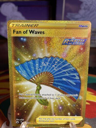 Pokemon Fan of Waves 226/198 Gold Secret Rare Chilling Reign FULL ART HOLO MINT
