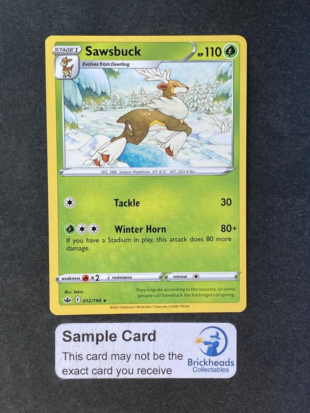 Sawsbuck 012/198 Rare | SWSH: Chilling Reign | Pokemon Card