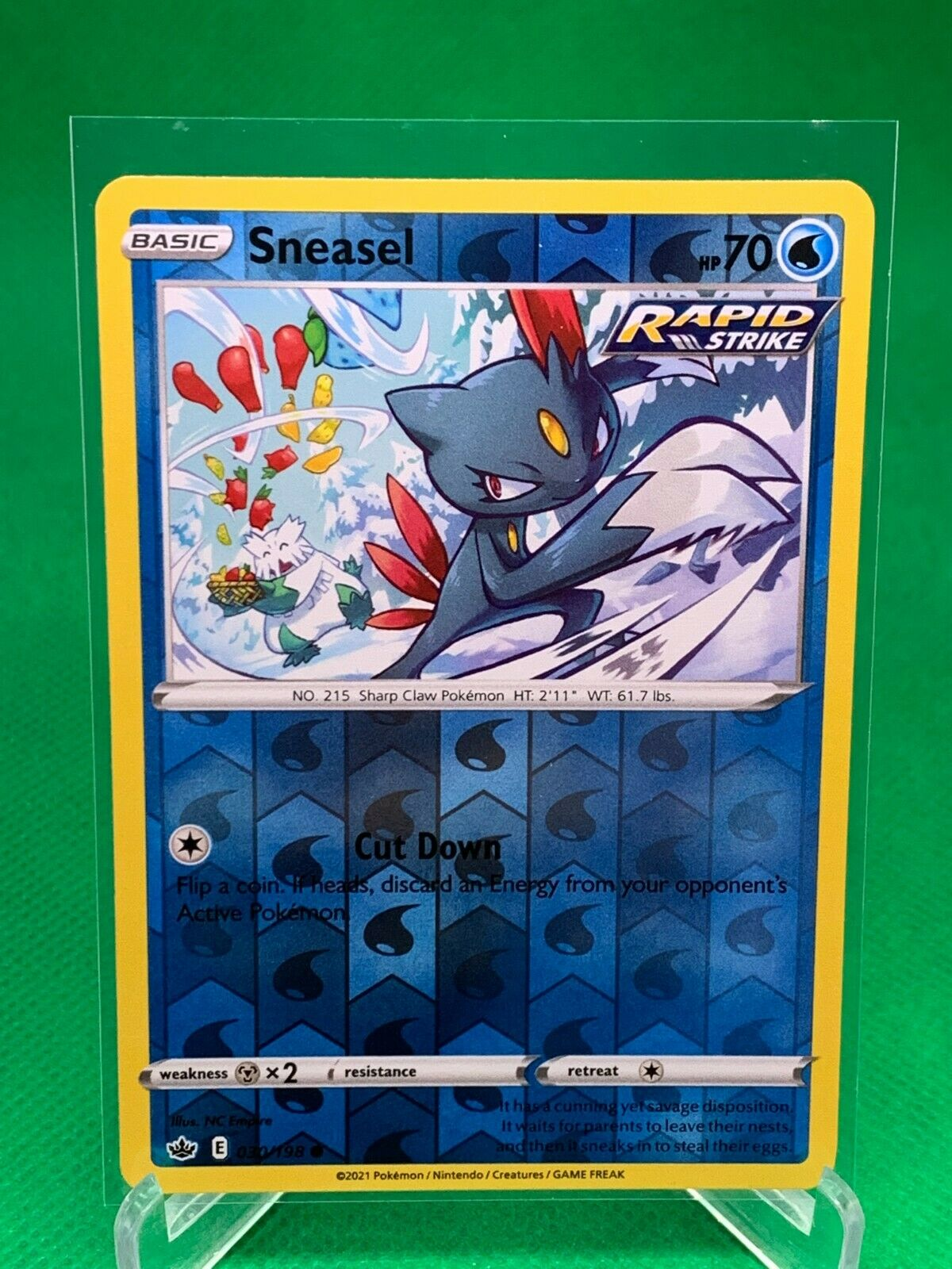 Pokemon - Sneasel - Chilling Reign - 030/198 - Reverse Holo