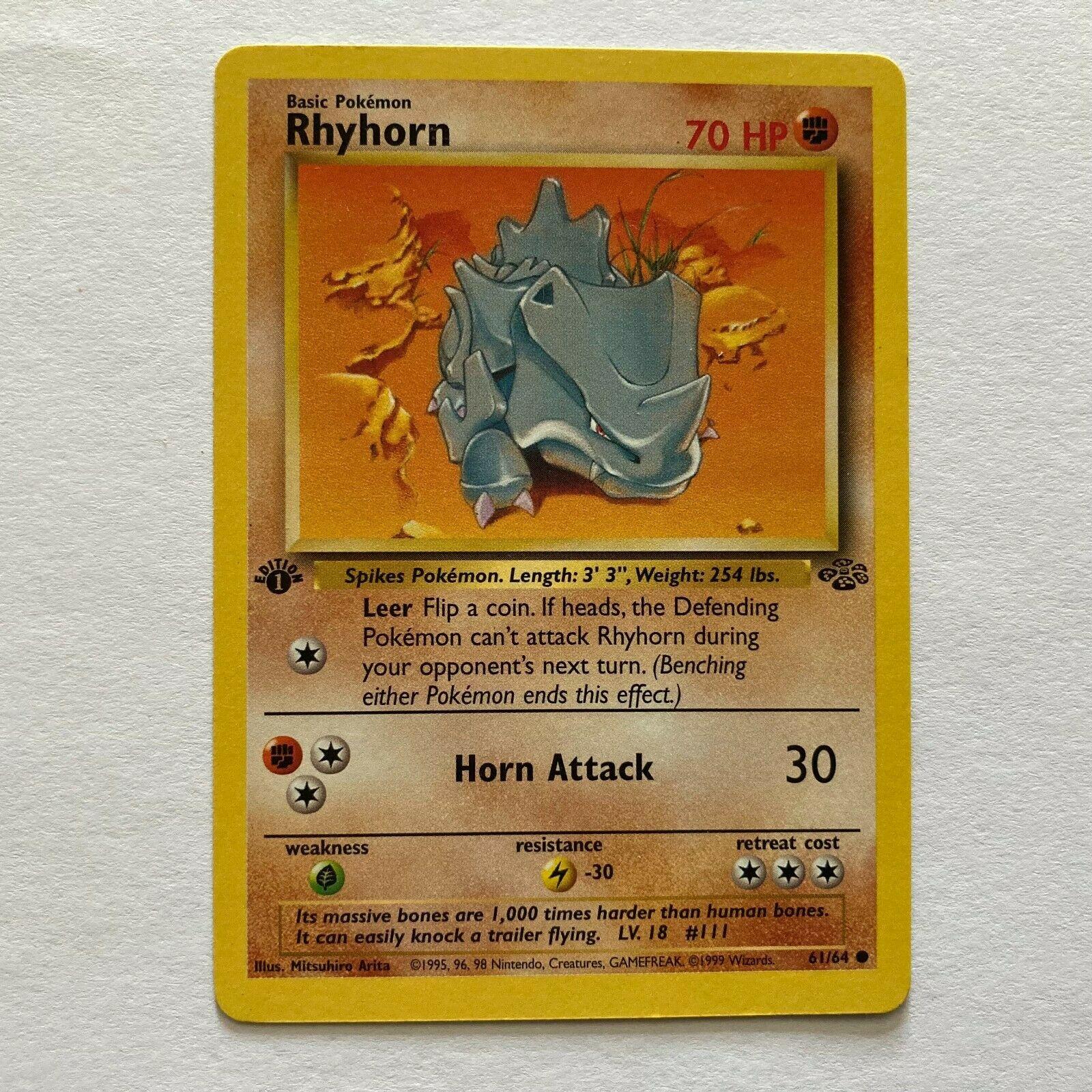 Rhyhorn Jungle 61 64 Value 0 50 120 00 Mavin