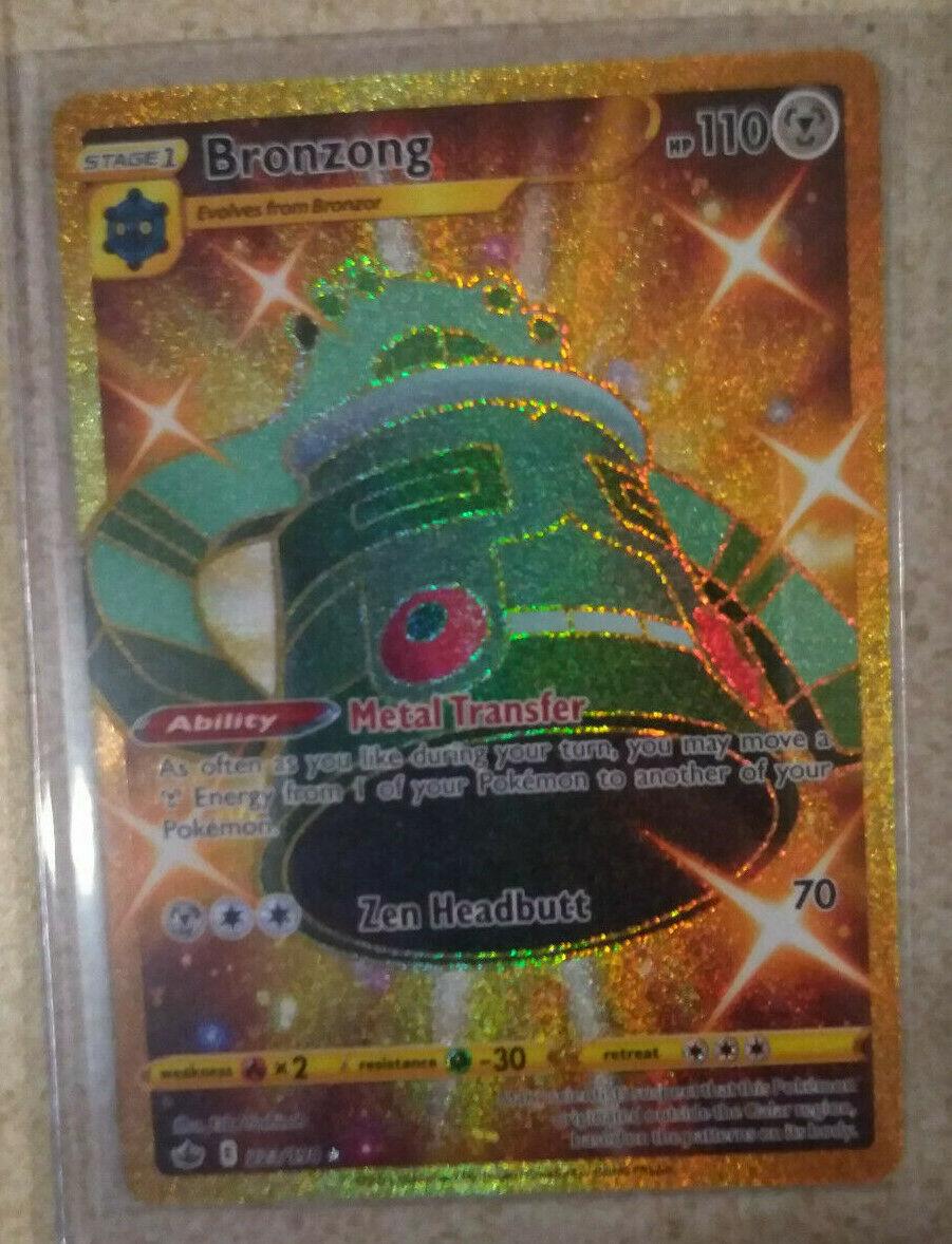 Pokemon TCG Bronzong 223/198 Gold Secret Rare Chilling Reign NM