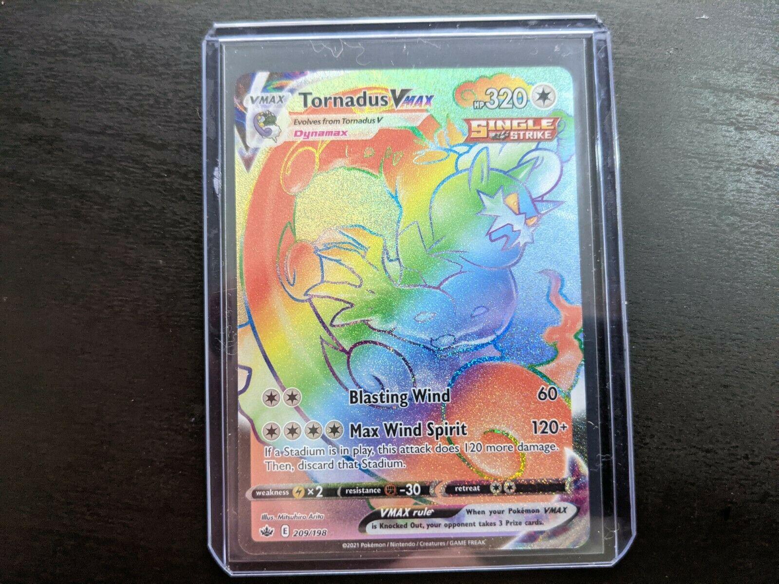Secret Rare Tornadus VMAX 209/198 (MINT)- Pokemon TCG Chilling Reign