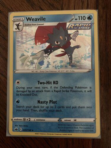 Pokemon TCG Weavile 031/198 Holo Chilling Reign 31/198 MINT!