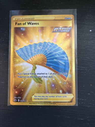 Pokemon TCG Chilling Reign Fan Of Waves Gold Secret Rare Full Art Holo 226/198