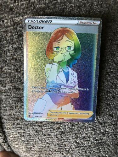 Doctor 214/198 Secret Rainbow Rare Pokémon Chilling Reign Full Art - Near Mint