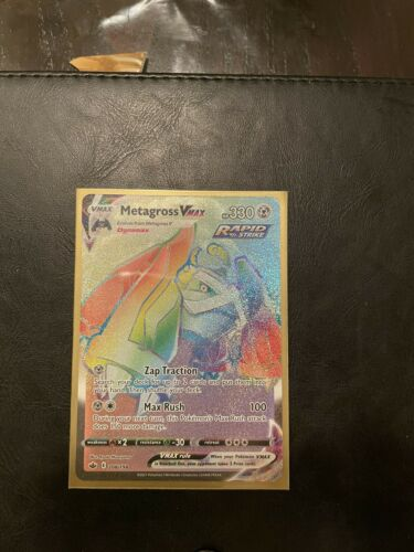 Metagross VMAX 208/198 Chilling Reign Rainbow Secret Rare Pokemon Card NM/M - Image 1