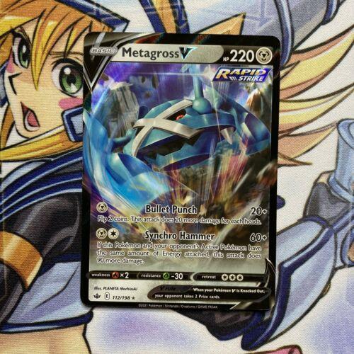 Metagross V 112/198 Full Art NM/M Chilling Reign Pokemon Card