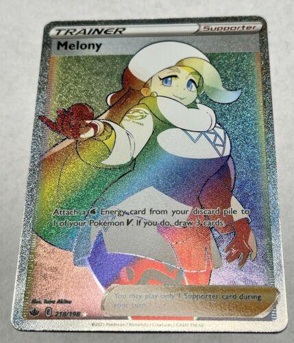 Pokemon Chilling Reign 218/198 Melony Secret Rare (Rainbow)