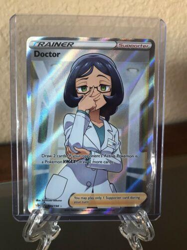 Full Art Doctor 190/198 Chilling Reign Pokemon Card- Mint 🔥 PSA Grade
