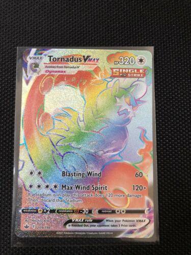 Tornadus VMAX - Secret Rainbow Rare - 209/198 - Chilling Reign - MINT - Image 1