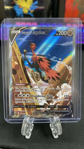 Pokemon Chilling Reign Galarian Zapdos V 174/198 Alt  Art - Grade Worthy