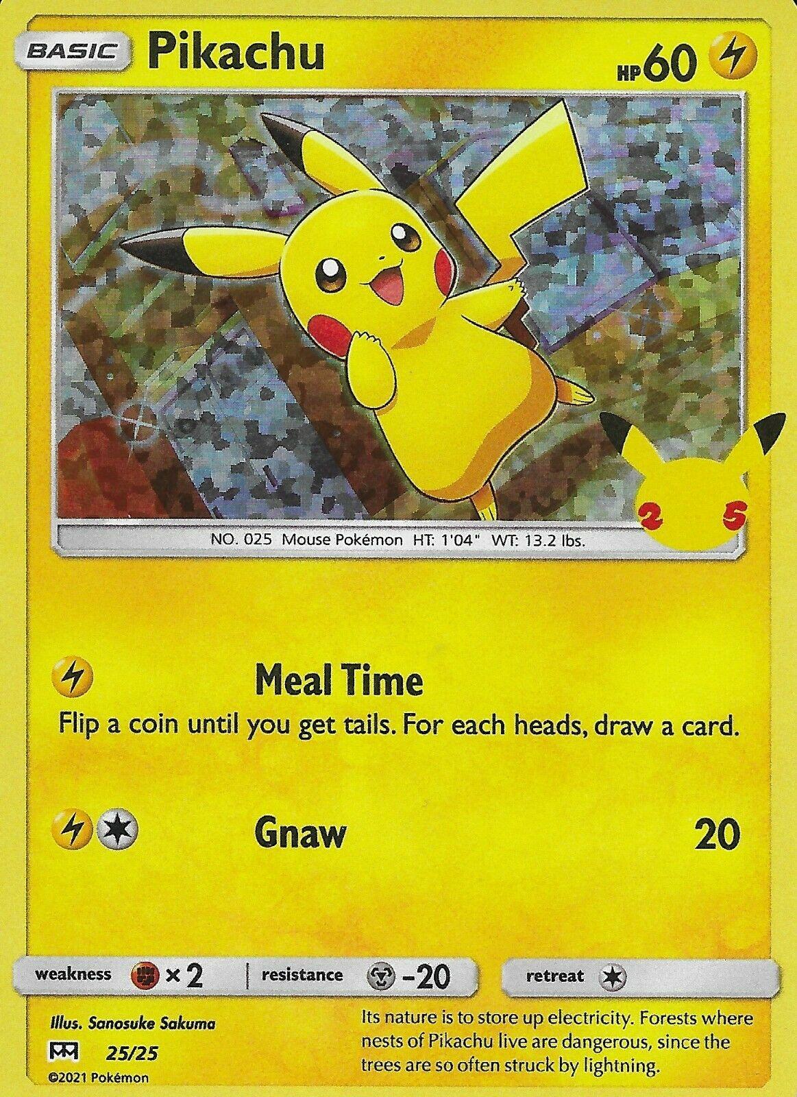 2021 McDonald's 25th Anniversary Pokemon Holo Pikachu 25/25