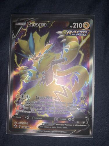 Pokemon Zeraora V Rapid Strike 165/198 Chilling Reign Full Art Mint