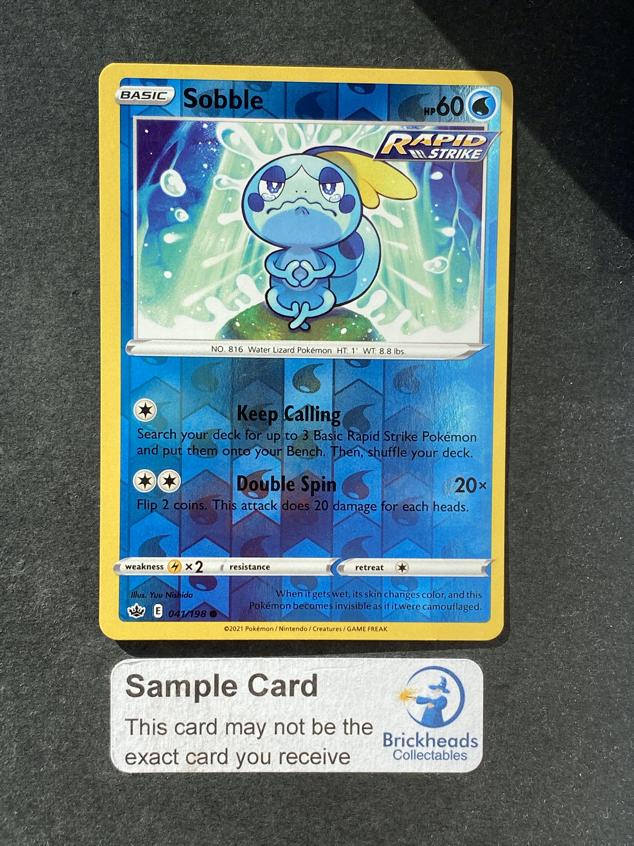 Sobble 041/198 Reverse Holo   SWSH: Chilling Reign   Pokemon Card