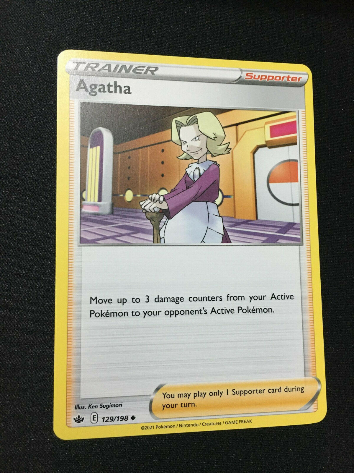 Pokemon TCG Agatha Trainer Card Chilling Reign SWSH06 129/198