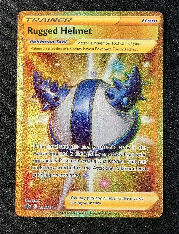 POKEMON TCG SS CHILLING REIGN Rugged Helmet 228/198 SECRET RARE