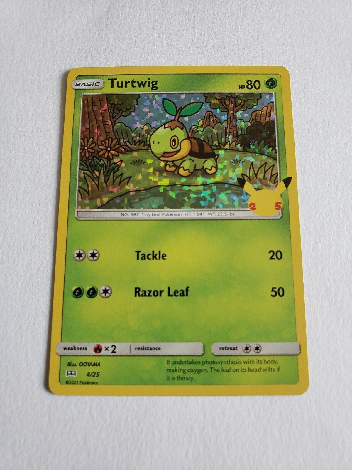 Pokemon TCG McDonald's 25th Anniversary Promos Turtwig 4/25 Holo NM/M