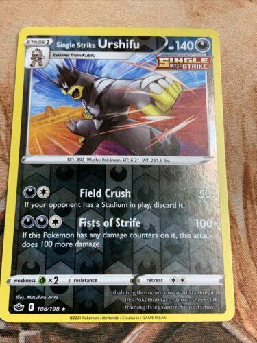 Pokemon Chilling Reign Single Strike Urshifu Reverse Holo 108/198  NM