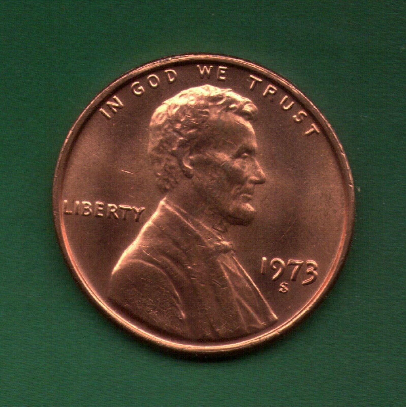 1973 S Penny UNC Slot Filler or Starter Coin   (73S0712) - Image 1