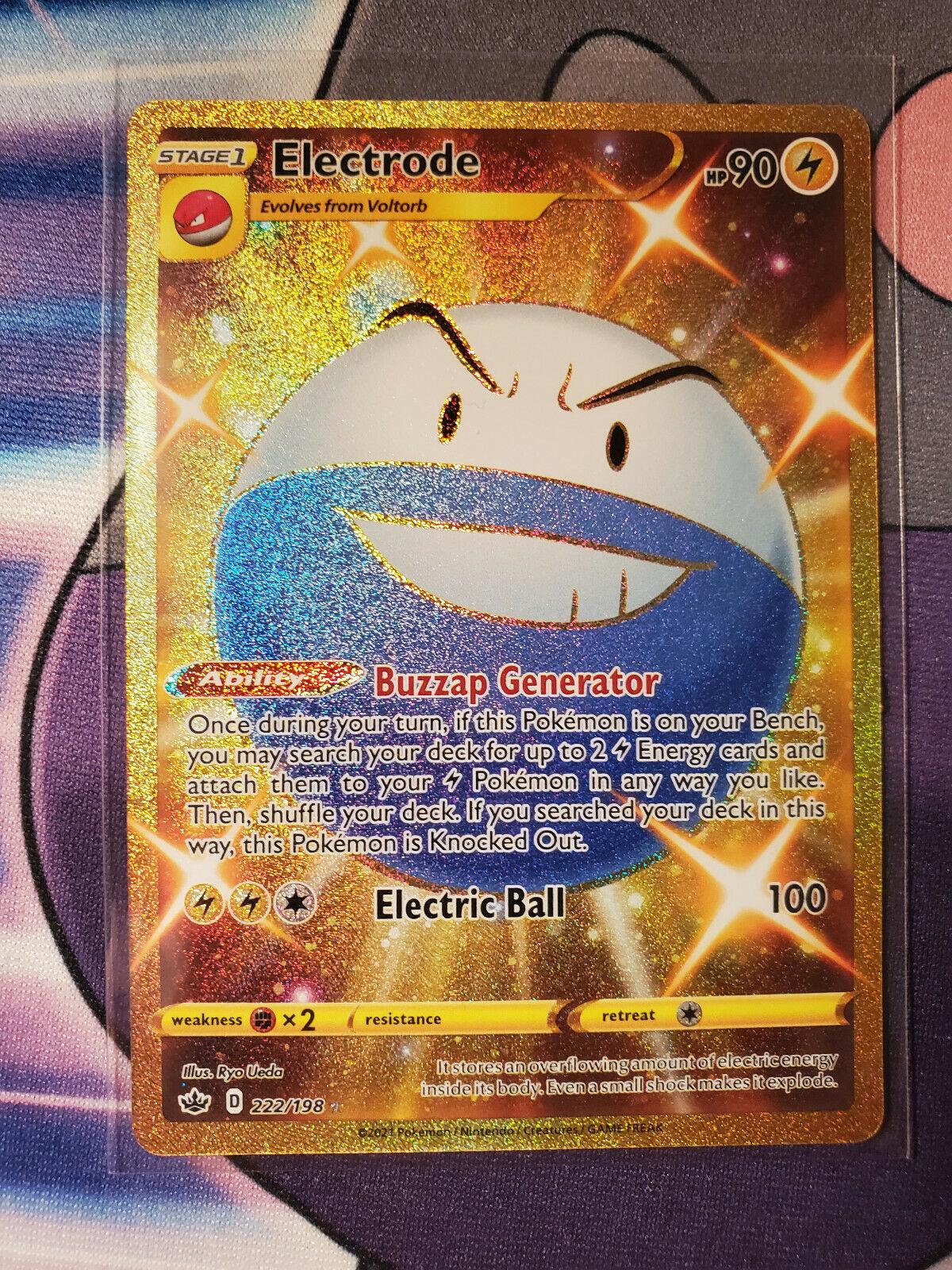 Pokemon ELECTRODE 222/198 Chilling Reign SECRET RARE FULL ART SSP
