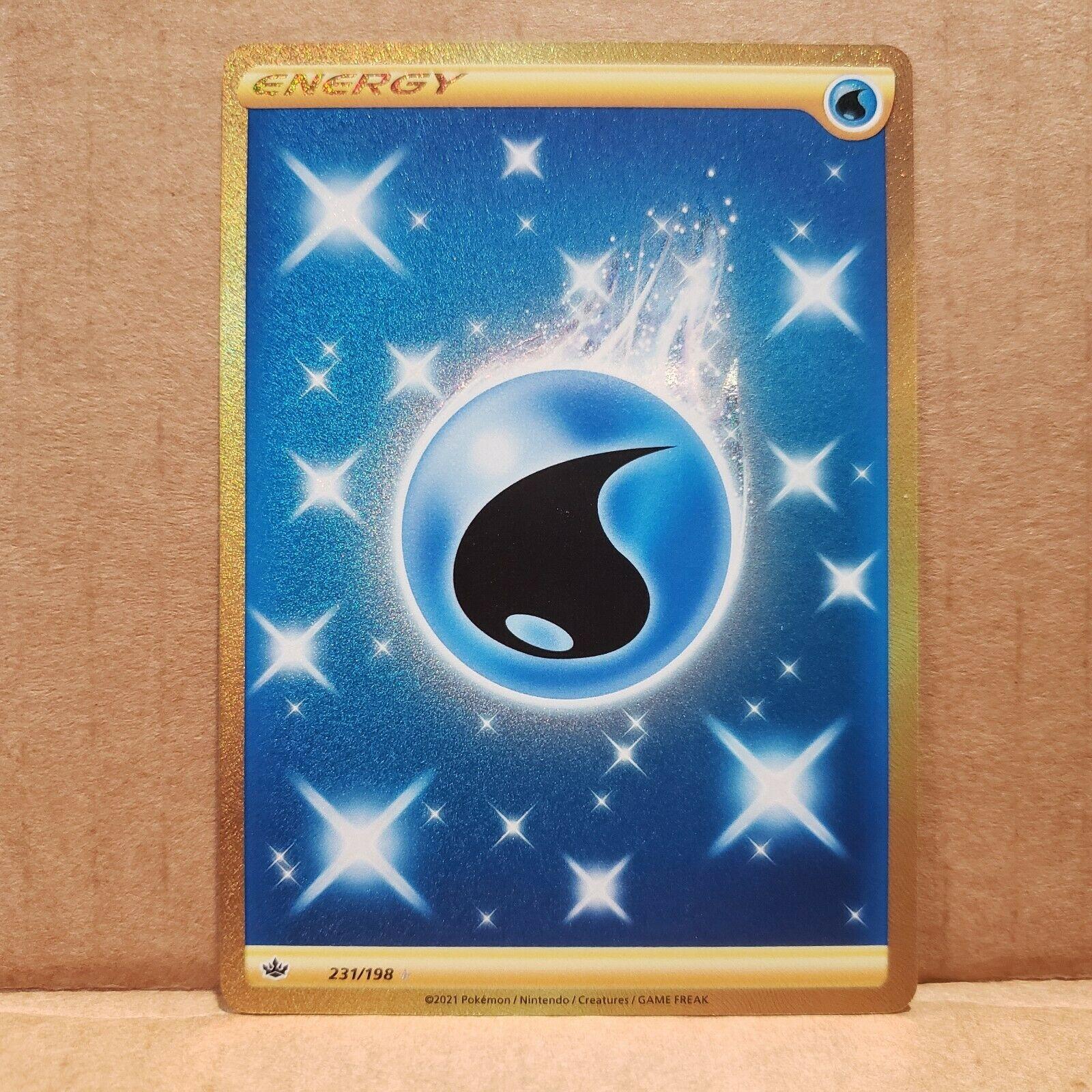Water Energy Secret Rare 231/198 Chilling Reign Pokemon Card