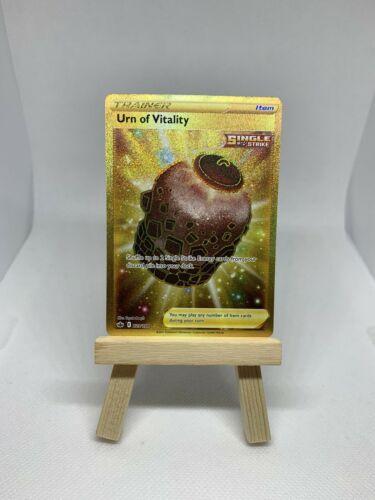 Urn of Vitality 229/198 Gold Secret Rare Single Strike Chilling Reign Pokemon 💎