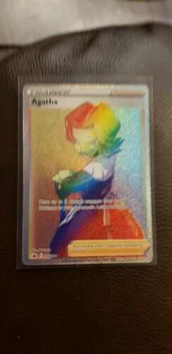 Pokemon Agatha Rainbow Rare Chilling Reign 210/198 Secret Rare