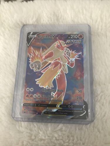 Blaziken V 161/198 Ultra Rare Full Art Chilling Reign Pokémon Nm-Mint