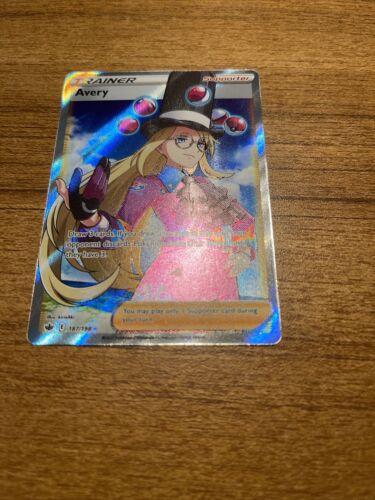 Avery 187/198 Chilling Reign Full Art Trainer Ultra Rare Pokemon Card