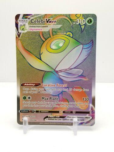 Pokemon TCG - Chilling Reign Celebi VMax Hyper Rare Card - 199/198 NM/M