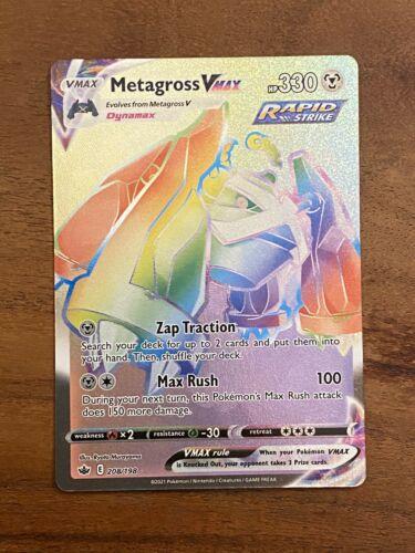 Metagross VMAX - SECRET RAINBOW RARE - 208/198 - Chilling Reign - NM/M - Image 1