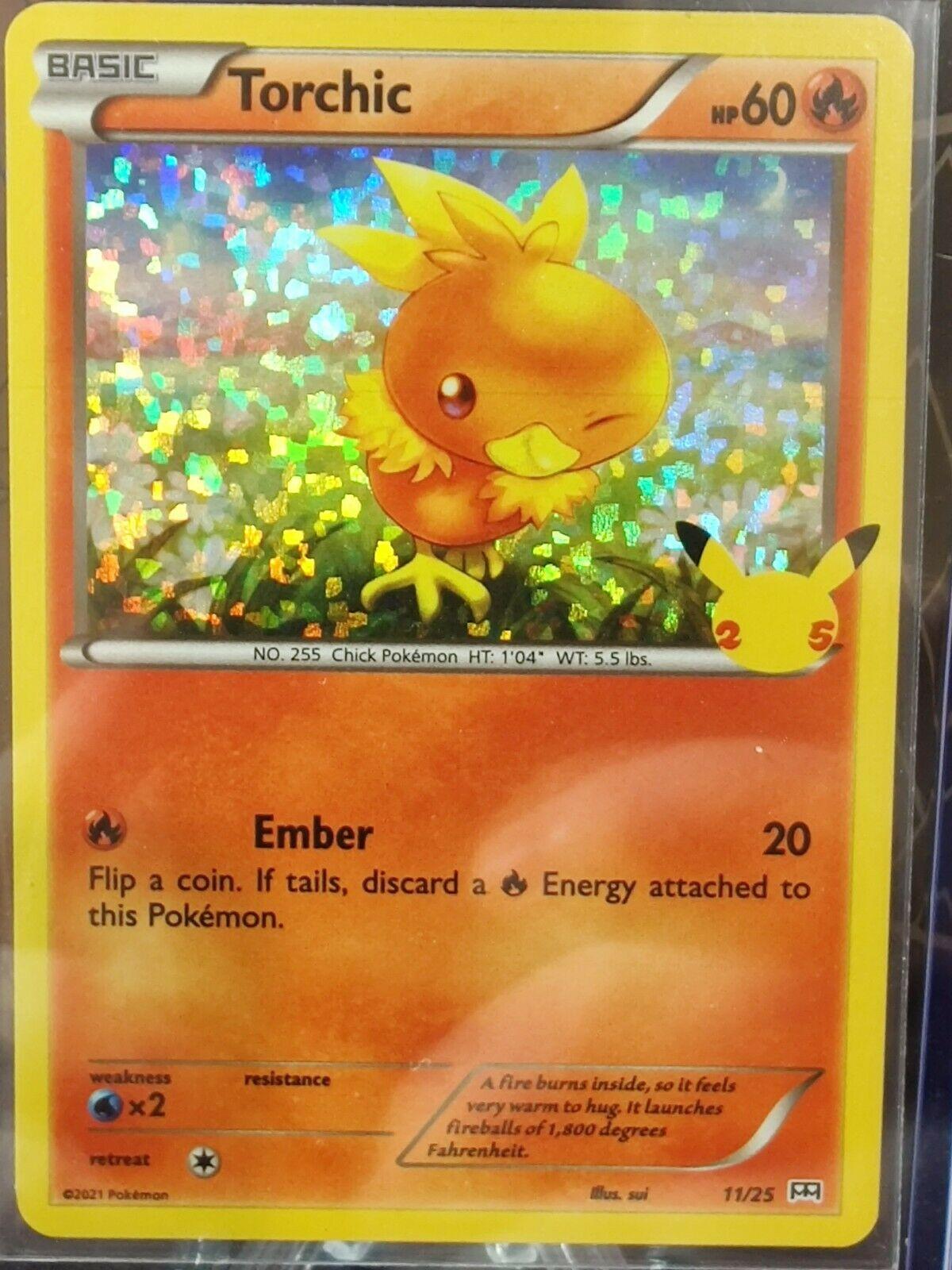 Torchic 11/25 McDonald's 25th Anniversary (Holo) Mint Pokemon TCG Single Card
