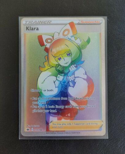 Klara 217/198 NM - Rainbow Rare - Chilling Reign Pokemon Cards