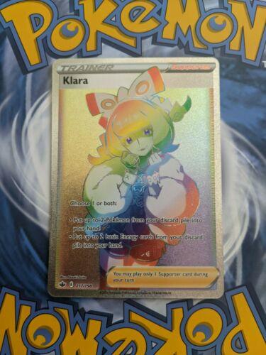 Pokémon Chilling Reign Klara Trainer Full Art Rainbow Secret Rare 217/198 Card