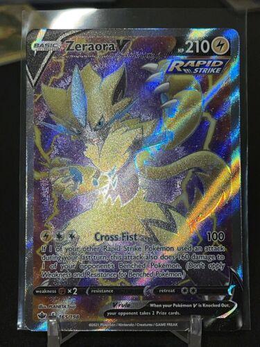 Zeraora V 165/198 Holo Pokémon Card Chilling Reign Full Art Ultra Rare
