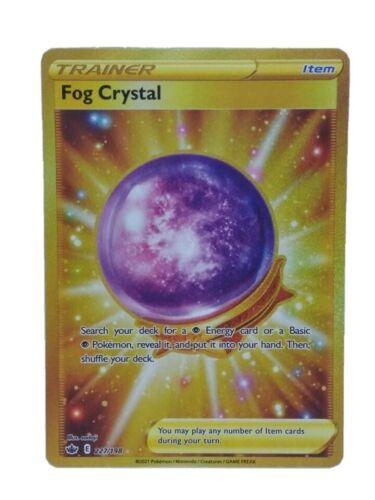 Gold Super Rare Fog Crystal Trainer Pokemon Chilling Reign Card 227/198