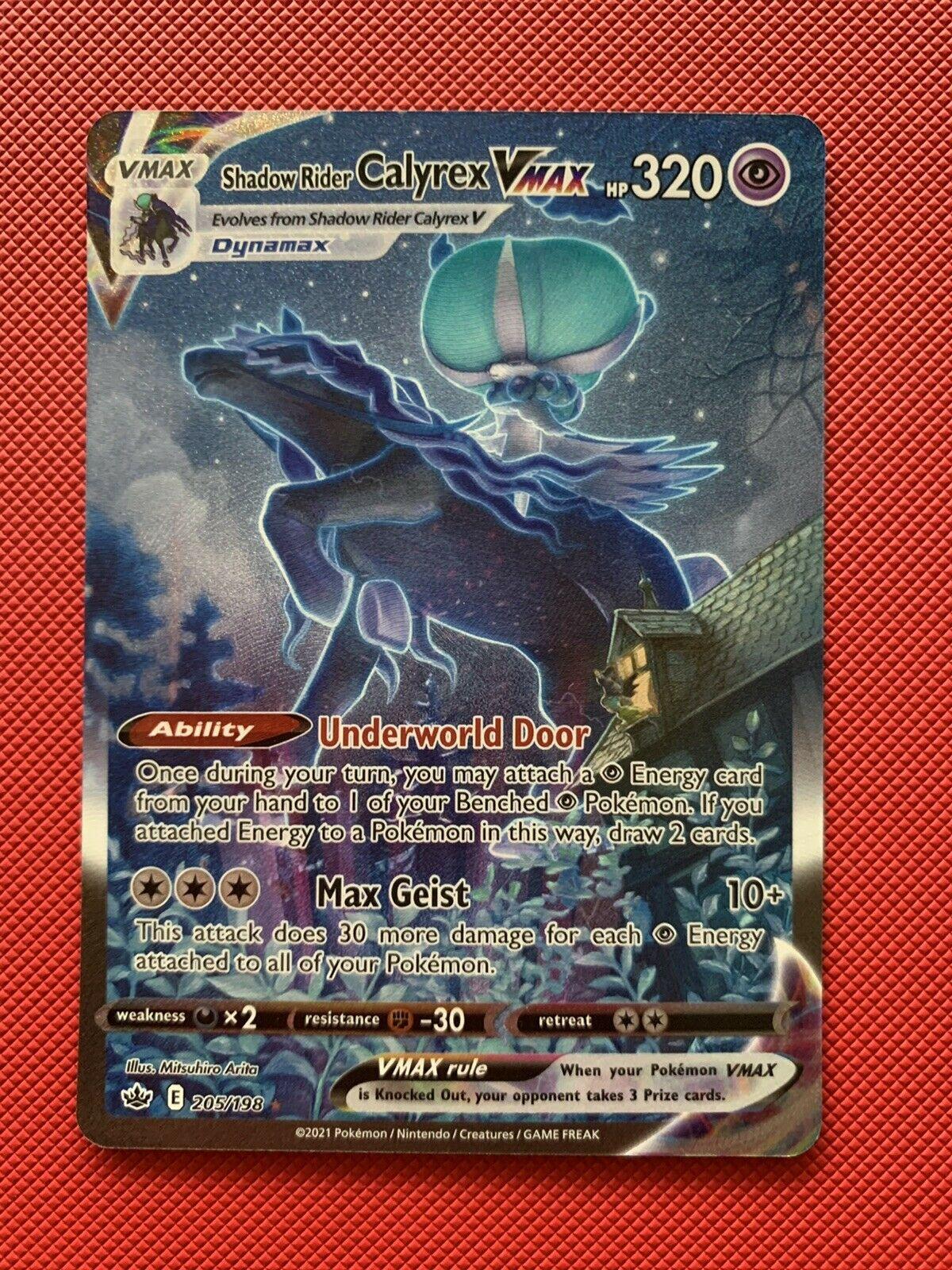 Pokemon TCG Chilling Reign - Shadow Rider Calyrex VMAX Alt Art 205/198 NM