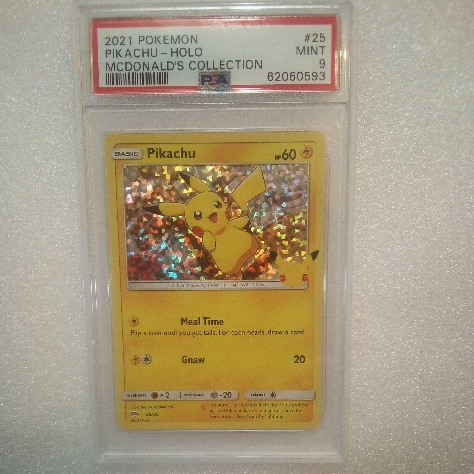 2021 Pokemon 25 McDonald's Collection 25/25 PIKACHU HOLO #25 PSA 9 MINT