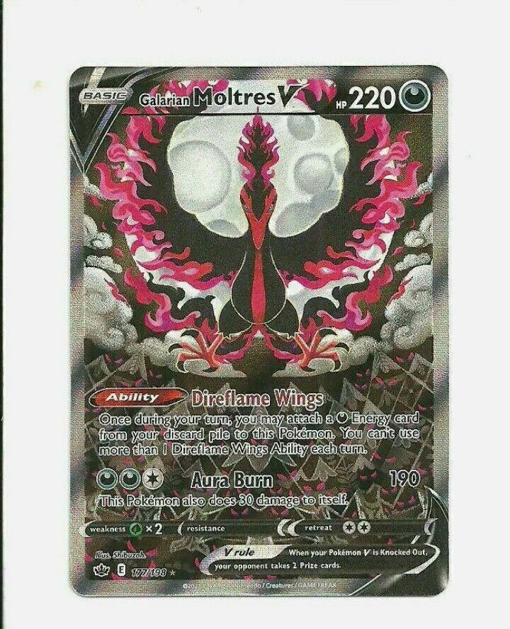 Pokemon TCG - Chilling Reign Galarian Moltres V Alternate Art - 177/198 Fresh pk