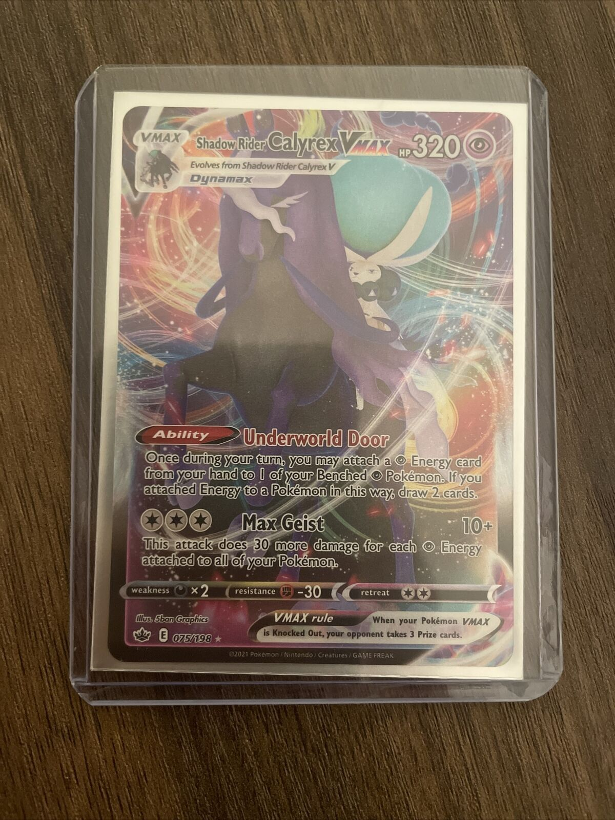 Shadow Rider Calyrex VMAX 075/198 Pokémon TCG Chilling Reign Full Art Near Mint