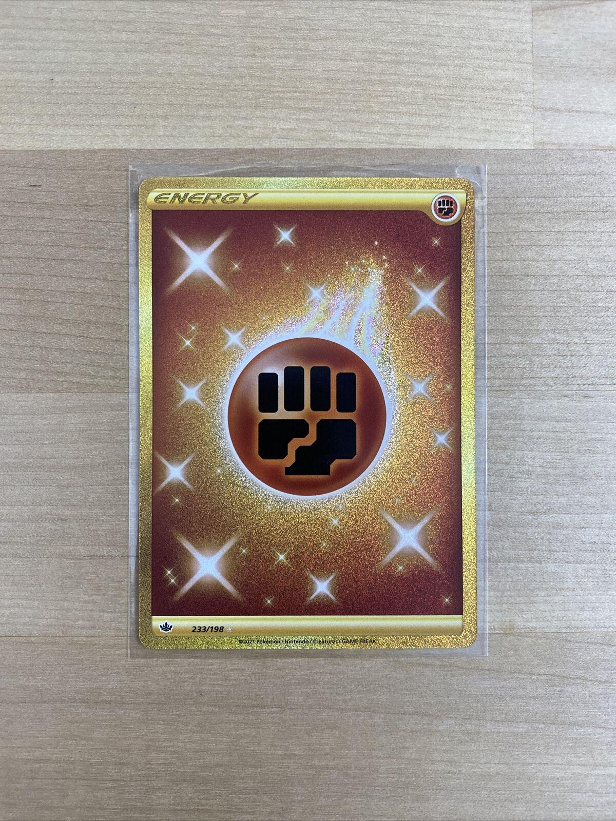 Pokemon Fighting Energy 233/198 Gold Secret Rare Chilling Reign
