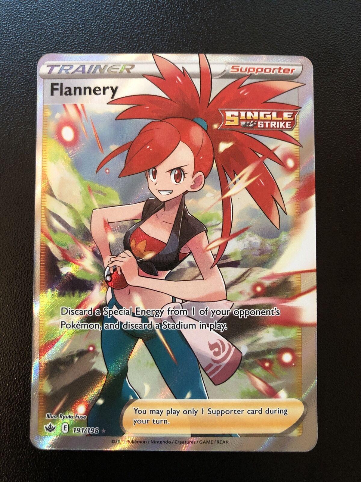 Pokemon Flannery Full Art Trainer 191/198 Chilling Reign