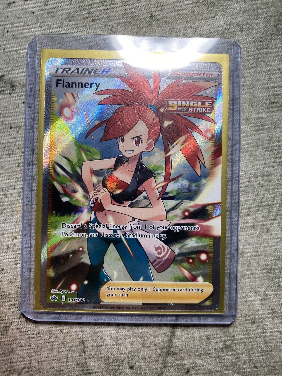 Flannery 191/198 Full Art Ultra Rare Chilling Reign Pokemon Card
