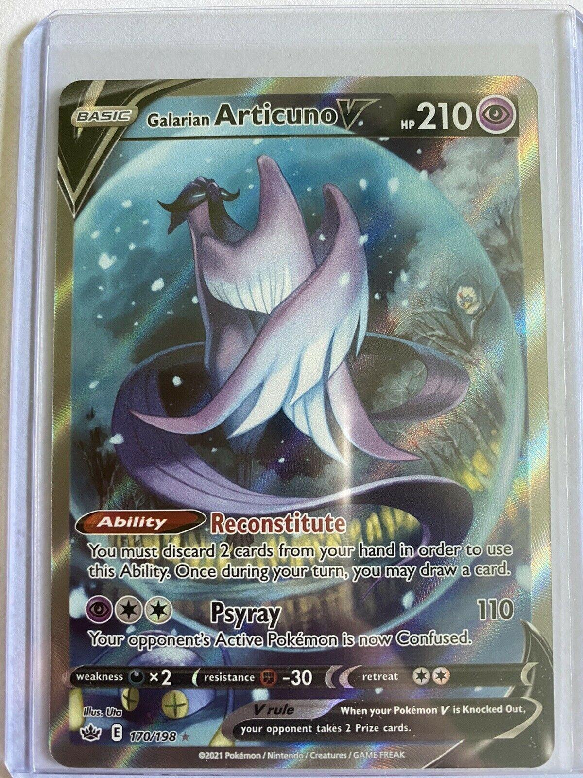 Galarian Articuno V Alternate Art 170/198 — Pokemon TCG Chilling Reign