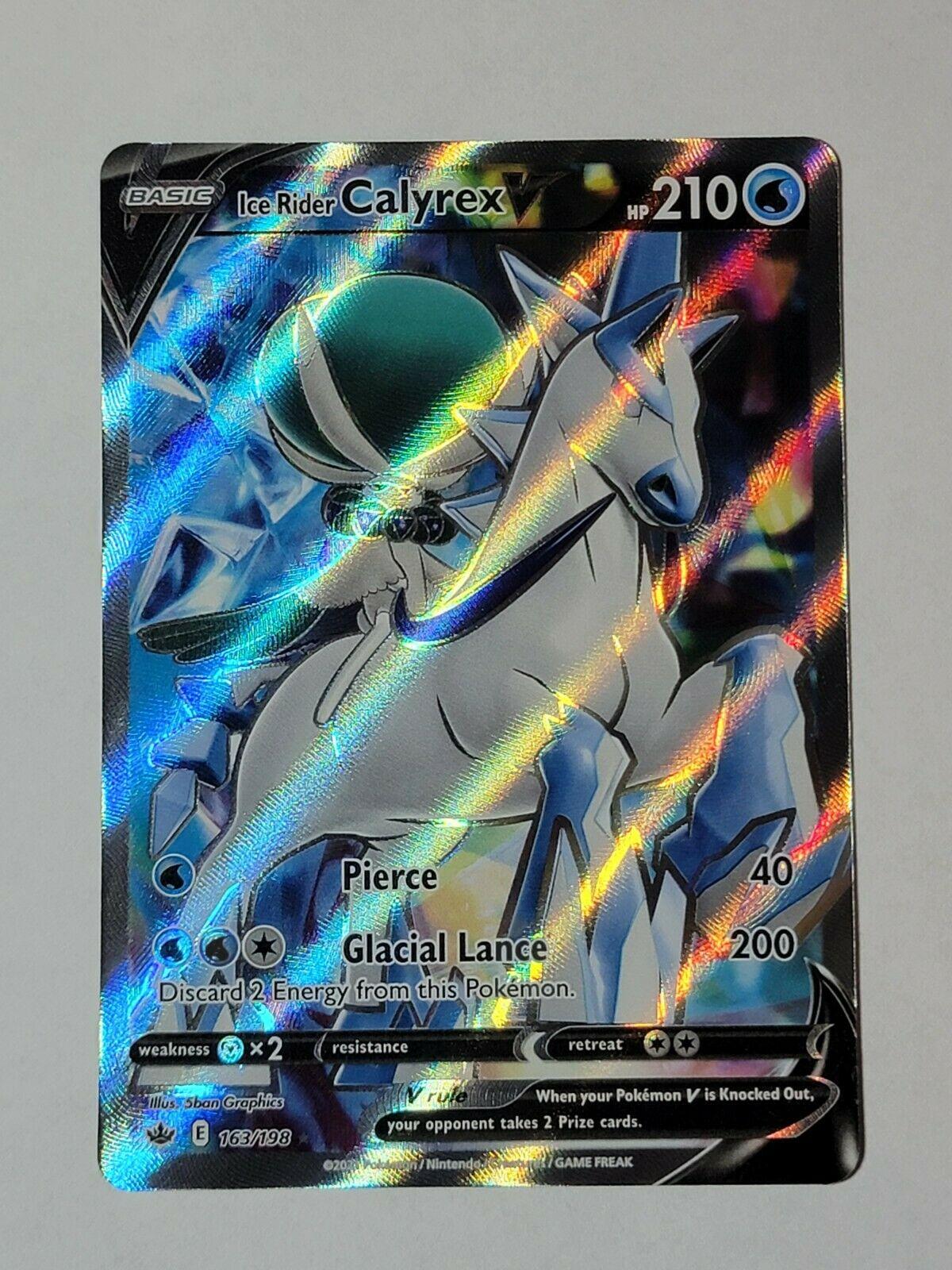 Ice Rider Calyrex V - Ultra Rare - NM+/M - Full Art - 163/198 - Chilling Reign