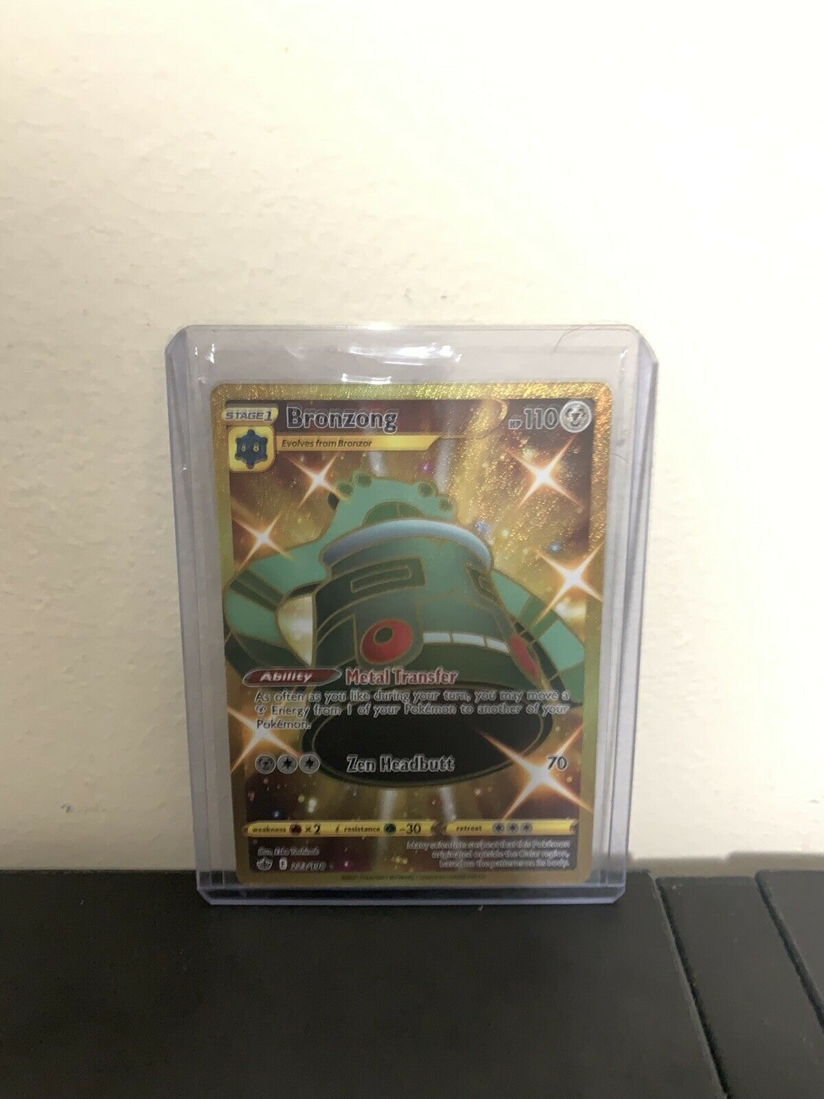 Bronzong 223/198 Gold Chilling Reign NM/M