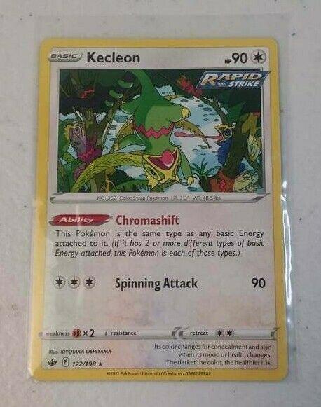 Kecleon 122/198 Chilling Reign 2021 Pokemon Trading Card Rare