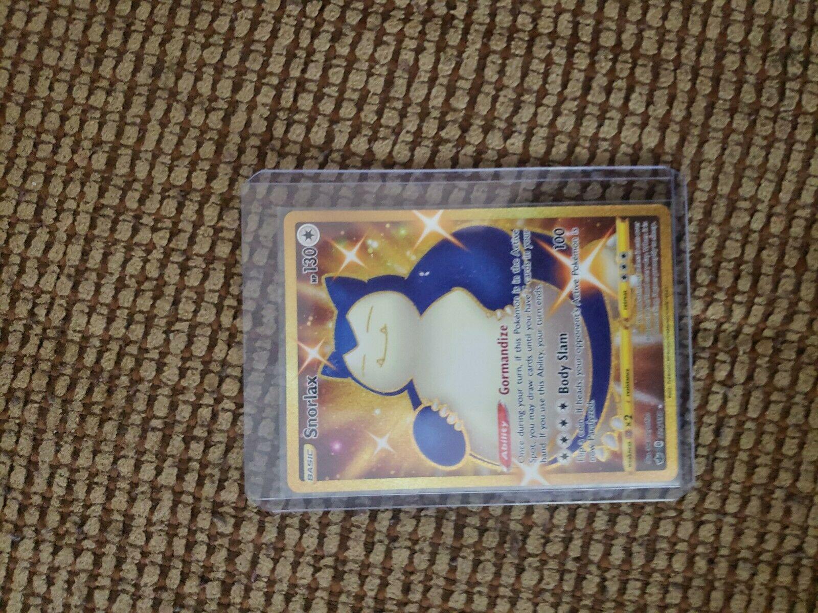 Pokemon Shiny Snorlax 224/198 Gold Rare Chilling Reign