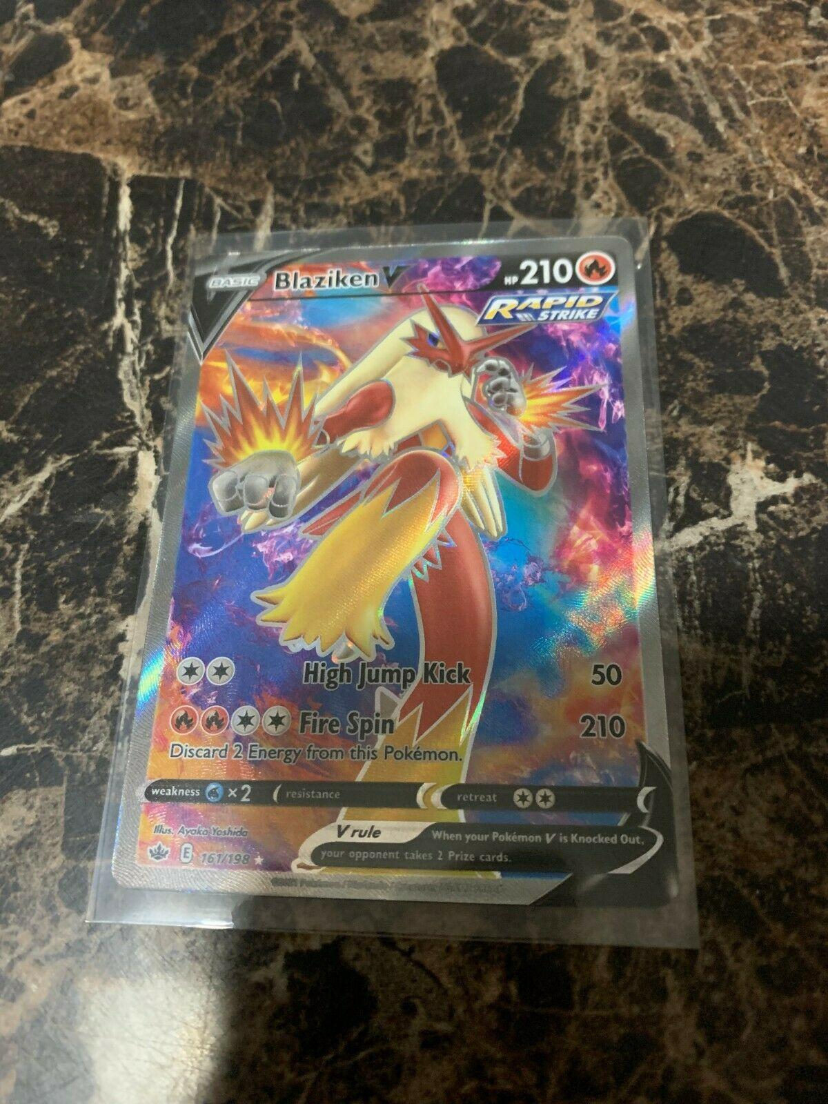 Blaziken V 161/198 Pokémon TCG Chilling Reign Full Art Ultra Rare Mint