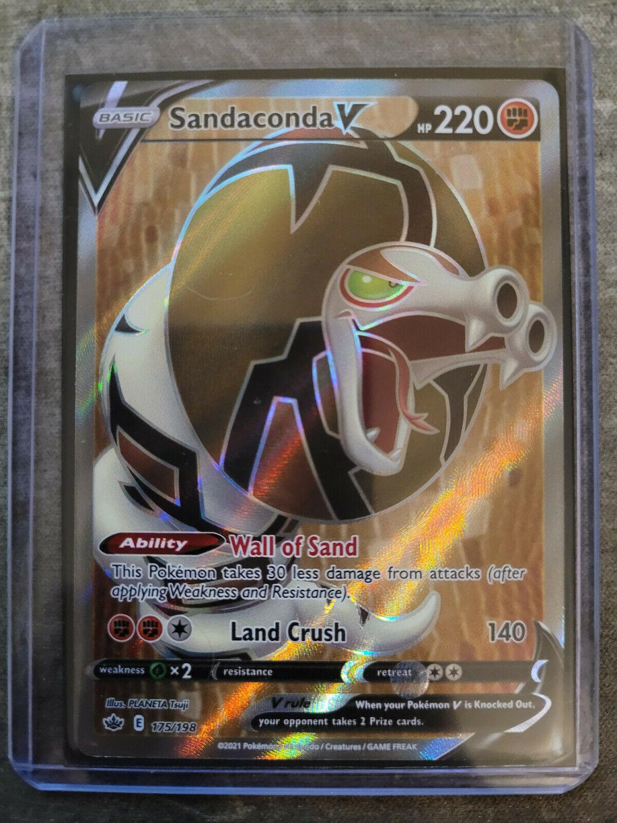 Sandaconda V Full Art 175/198 Pokemon Chilling Reign